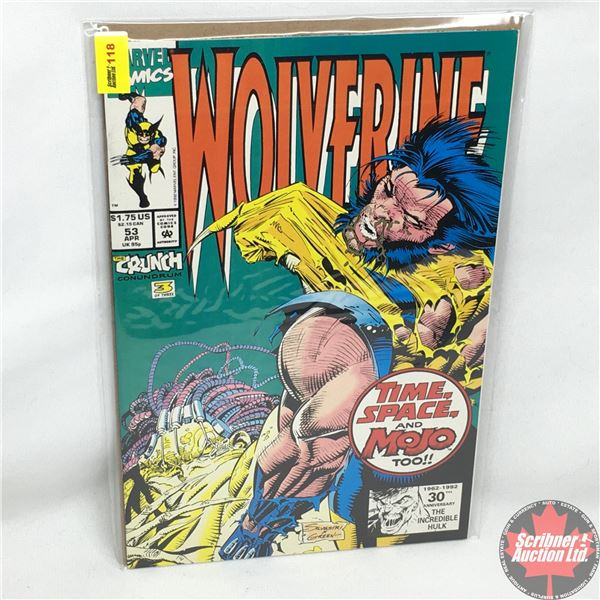 MARVEL: Wolverine 53, April 1992: Time, Space, and Mojo Too - The Chimerical Mystery Tour