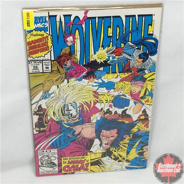 """MARVEL: Wolverine 55, June 1992: Introducing the Madness of Cylla - Thirty Slashes Over Tokyo or """"Sa"""