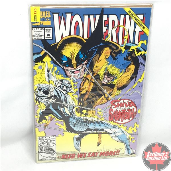 MARVEL: Wolverine 60, Early September 1992:  Shiva Versus Sabretooth - Counting Coup