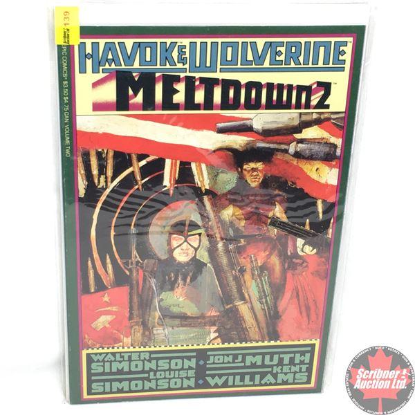 """Havok & Wolverine - Meltdown 2 - Volume 2 -  1988 - Published by """"Epic Comics""""  (Marvel)"""