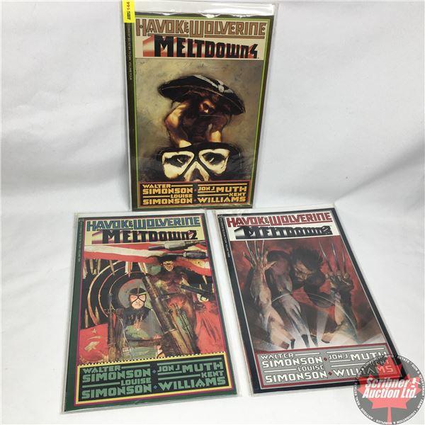 "COMBO (3): Havok & Wolverine - Meltdown 2 - Volume 2 -  1988 - Published by ""Epic Comics""  (Marvel)"