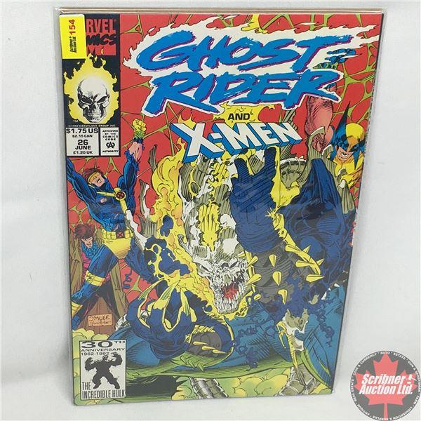 MARVEL COMICS: Ghost Rider and X-Men - Vol. 2, No. 26, June 1992 - Stan Lee Presents: Ghost Rider