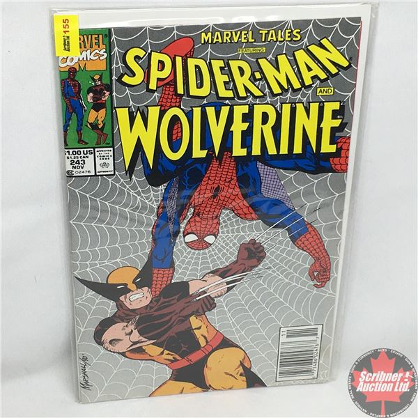 MARVEL COMICS: Marvel Tales Featuring Spider-Man and Wolverine -  Vol. 1, No. 243, November 1990 - S