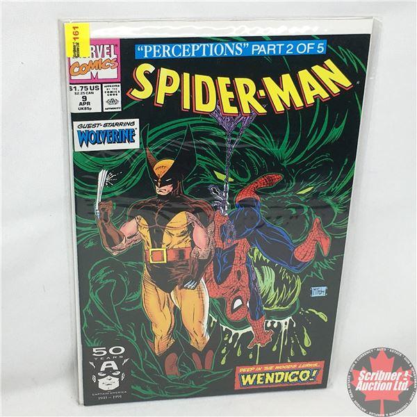"""MARVEL COMICS: """"Perceptions"""" Part 2 of 5 - Spider-Man - Vol. 1, No. 9, April 1991 - Stan Lee Present"""