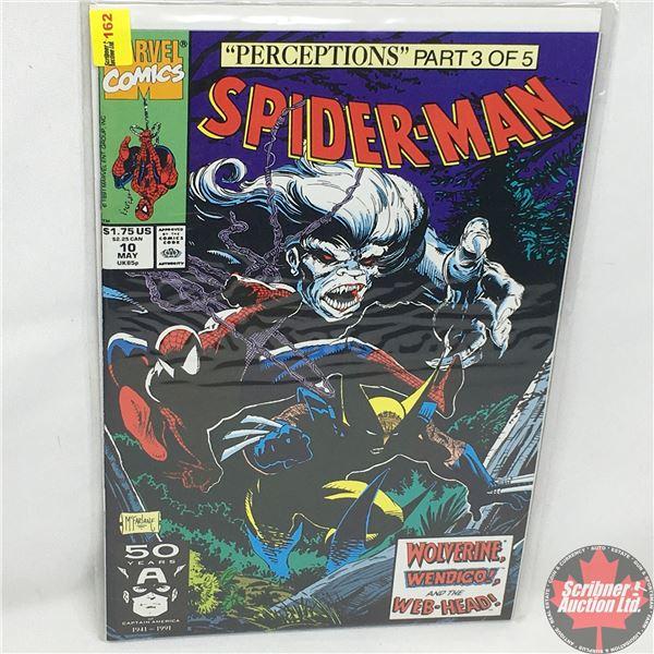 """MARVEL COMICS: """"Perceptions"""" Part 3 of 5 - Spider-Man - Vol. 1, No. 10, May 1991 - Stan Lee Presents"""