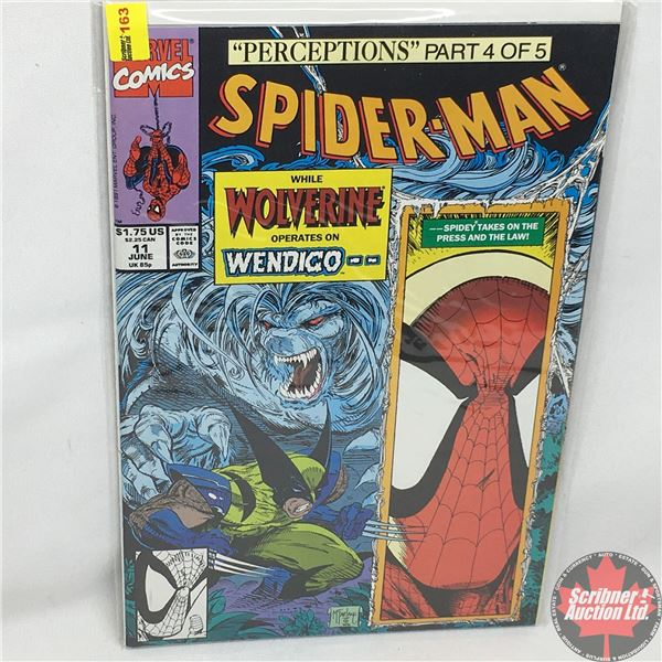 """MARVEL COMICS: """"Perceptions"""" Part 4 of 5 - Spider-Man - Vol. 1, No. 11, June 1991 - Stan Lee Present"""