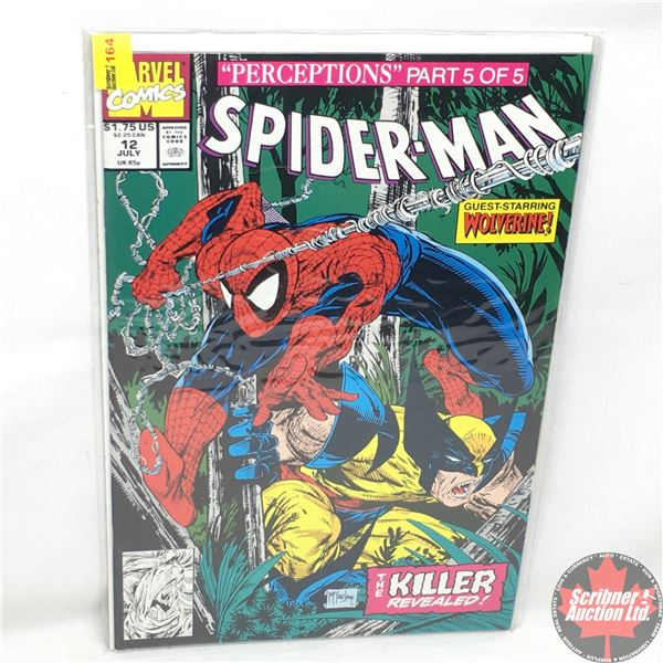 """MARVEL COMICS: """"Perceptions"""" Part 5 of 5 - Spider-Man - Vol. 1, No. 12, July 1991 - Stan Lee Present"""