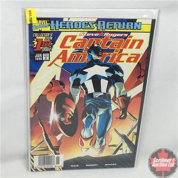 "MARVEL COMICS: Heroes Return - Steve Rogers - Captain America ""Collector's Item 1st Issue""  Vol. 3,"