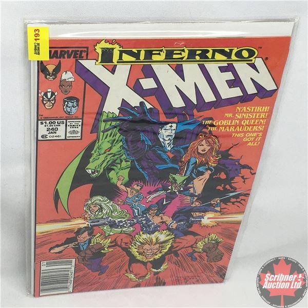 MARVEL: Inferno X-Men - Vol. 1, No. 240, January 1989 - Stan Lee Presents: Strike the Match - Starri