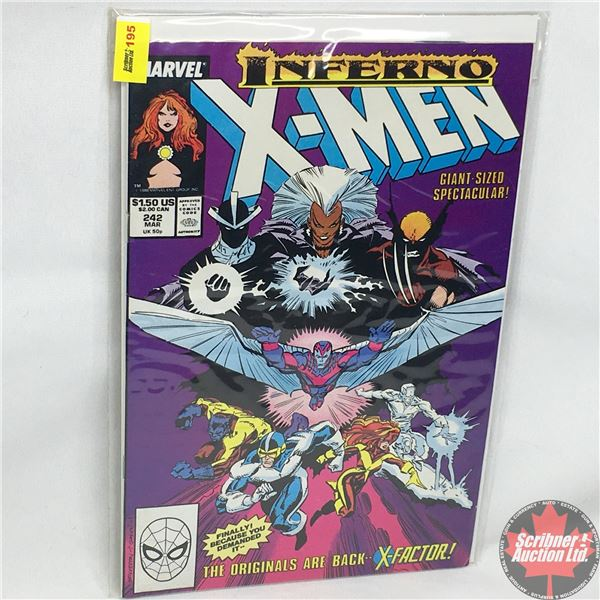 MARVEL: Inferno X-Men - Vol. 1, No. 242, March 1989 - Stan Lee Presents: Burn! - Starring the Uncann