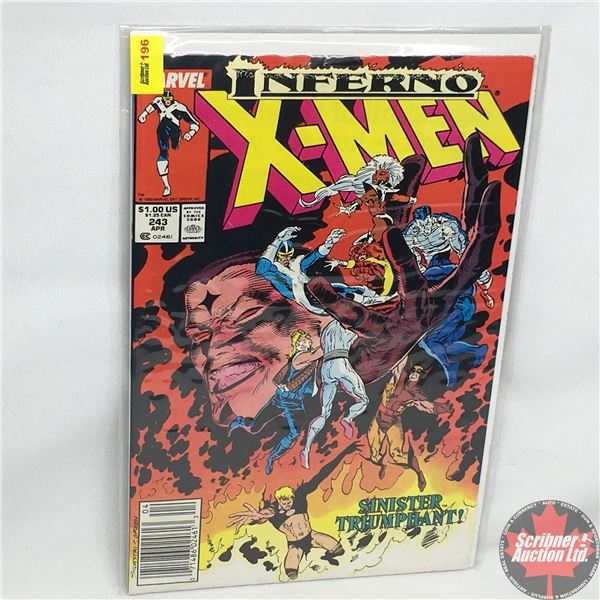 MARVEL: Inferno X-Men - Vol. 1, No. 243, April 1989 - Stan Lee Presents: Ashes  -  The 25th Annivers