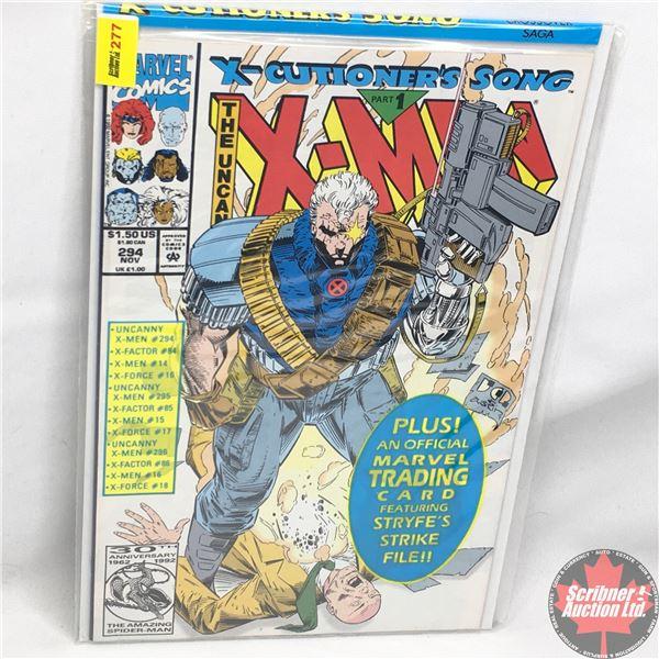 MARVEL: The Uncanny X-Men - Vol. 1, No. 294, November 1992 -  X-Cutioner's Song - Part 1 (Sealed w/