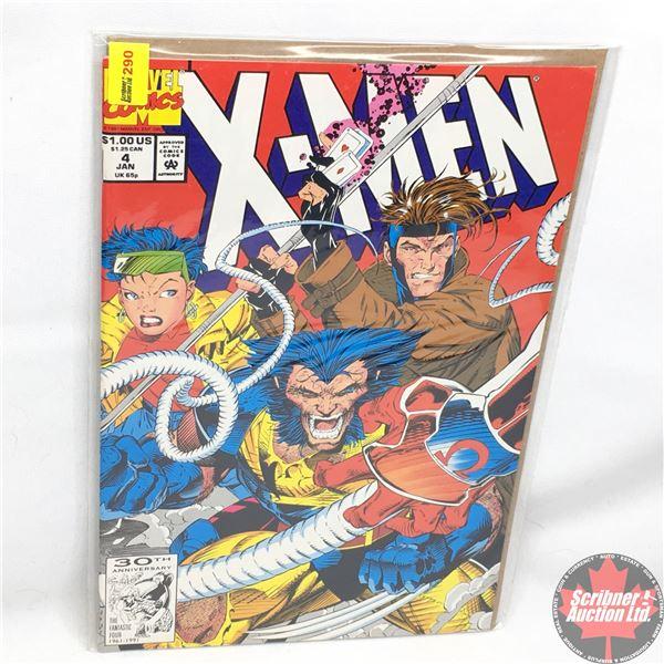 MARVEL COMICS: X-Men - Vol. 1, No. 4, January 1992 - Stan Lee Presents: The Resurrection and The Fle