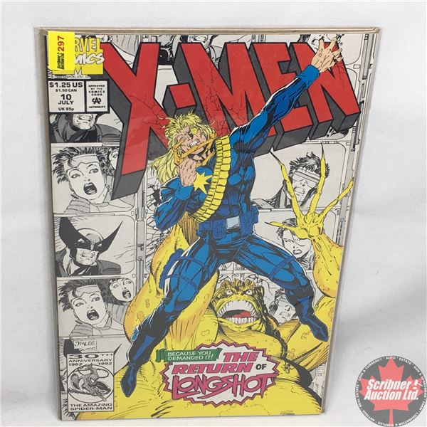 "MARVEL COMICS: X-Men - Vol. 1, No. 10, July 1992 - Stan Lee Presents: ""Where The Happy Little Bluebi"