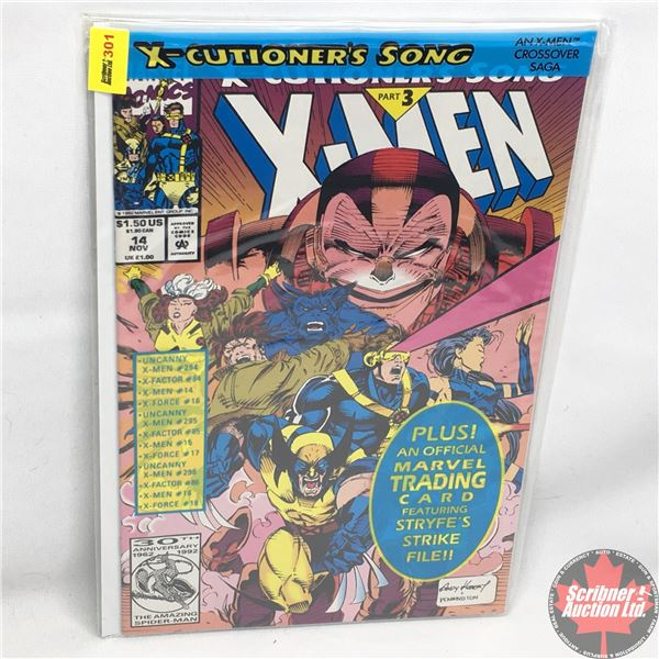 MARVEL:  X-Men - Vol. 1, No. 14, November 1992 -  X-Cutioner's Song - Part 3 (Sealed w/ trading card