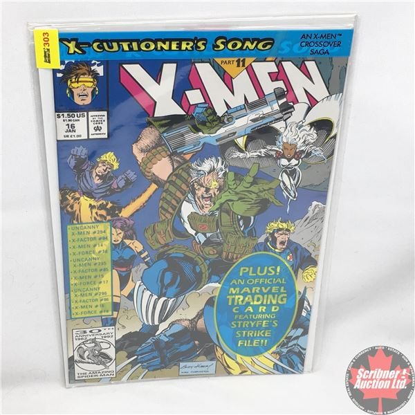 MARVEL:  X-Men - Vol. 1, No. 16, January 1993 -  X-Cutioner's Song - Part 11 (Sealed w/ trading card