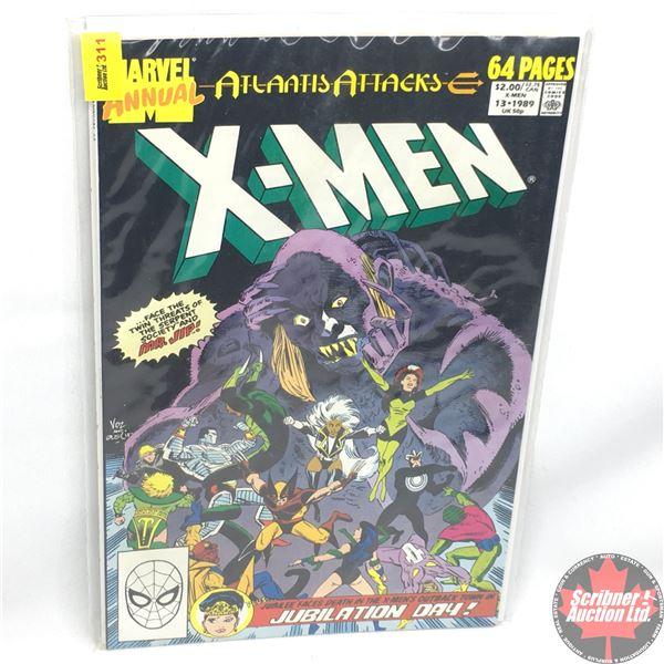 MARVEL COMICS: The X-Men Annual - Vol. 1, No. 13, 1989 - Atlantis Attacks  Chapter 3
