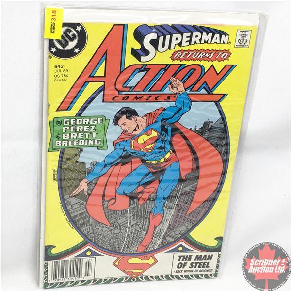 DC:  Action Comics:  Superman - July 1989 - Superman on Earth