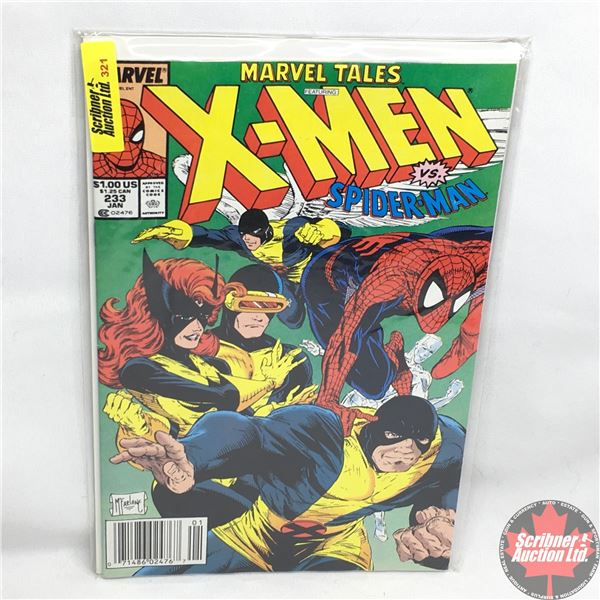 MARVEL:  Marvel Tales featuring X-Men vs. Spider-Man - Vol. 1, No. 233, January 1990 - Along Came a