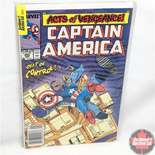 MARVEL: Captain America - Vol. 1, No. 366, January 1990 - Stan Lee Presents: Captain America - Remot