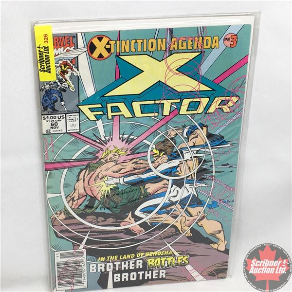 MARVEL COMICS: X-Factor - Vol. 1, No. 60, November 1990 - Stan Lee Presents: Brotherhood