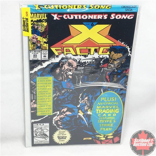 MARVEL:  X-Factor - Vol. 1, No. 85, December 1992 -  X-Cutioner's Song - Part 6 (Sealed w/ trading c