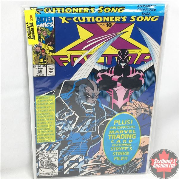 MARVEL:  X-Factor - Vol. 1, No. 86, January 1993 -  X-Cutioner's Song - Part 10 (Sealed w/ trading c