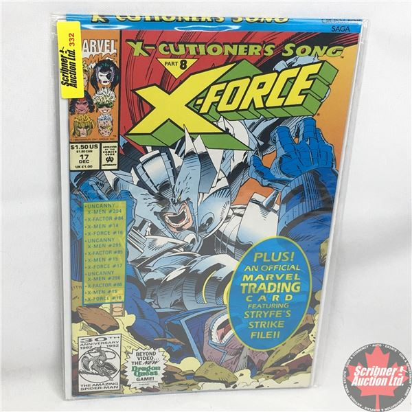 MARVEL:  X-Force - Vol. 1, No. 17, December 1992 -  X-Cutioner's Song - Part 8 (Sealed w/ trading ca