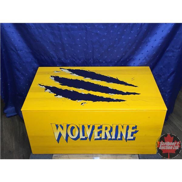 "Custom Built Comic Book Crate:  ""X-MEN, WOLVERINE, THE UNCANNY X-MEN""  - Has Handles and a Lid that"