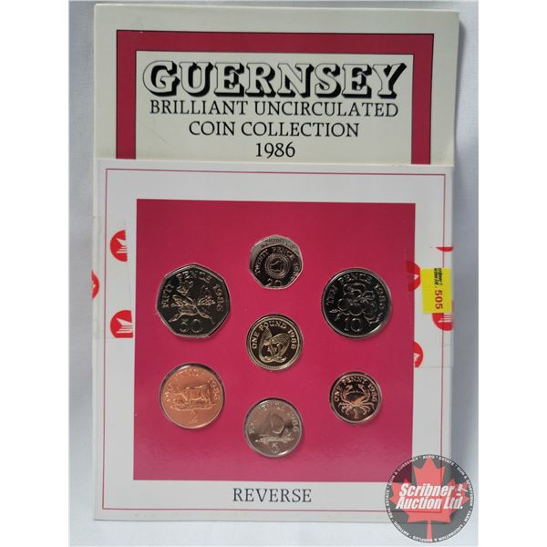 Guernsey Brilliant Uncirculated Coin Collection 1986
