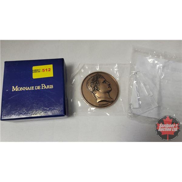 France : Monnaie De Paris Bronze Medallion (Art Piece) Arc de Triomphe (See Pics!) (with Small Displ