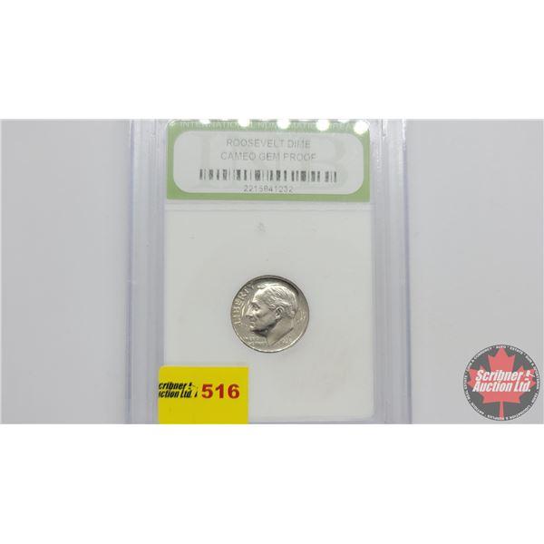 US Liberty Roosevelt Dime 1973S (Cameo Gem Proof : International Numismatic Bureau)