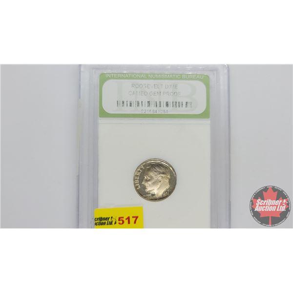 US Liberty Roosevelt Dime 1976S (Cameo Gem Proof : International Numismatic Bureau)