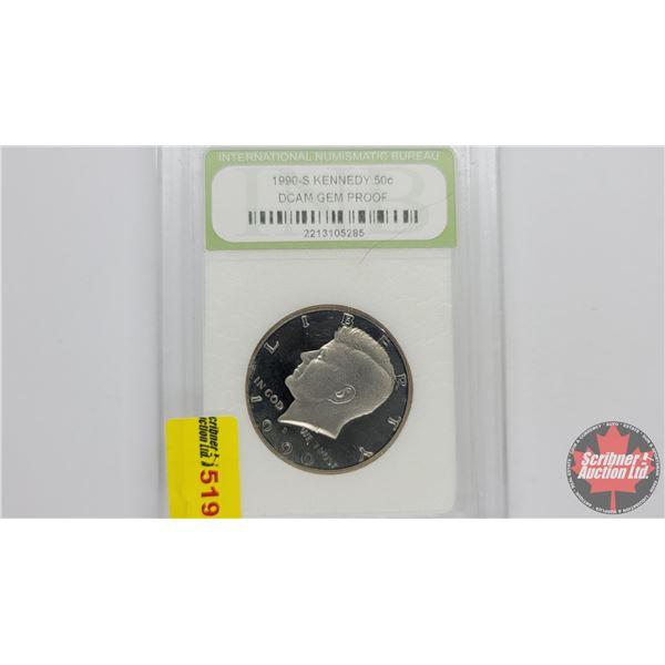 US Liberty Kennedy Half Dollar 1990S (Cameo Gem Proof : International Numismatic Bureau)