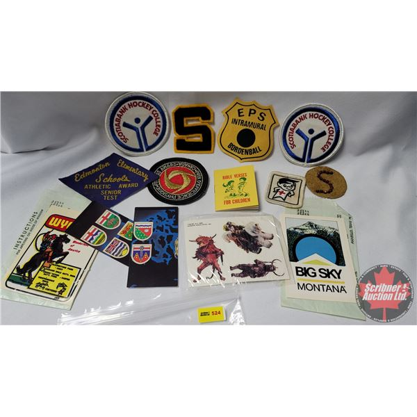 Variety of Award Badges/Ribbons/Window Decals (See Pics) (Jacket Letter, Scotiabank Hockey College,