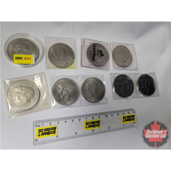 Collection of Commemorative Coins/Medallions (9) : 1981 HRH The Prince of Wales and Lady Diana Spenc