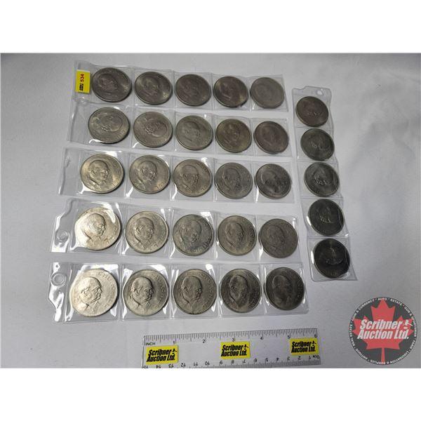 Churchill Commemorative Medallion Coin Collection (30 !!)