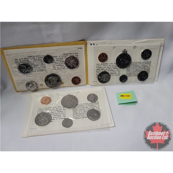 Trio: Uncirculated Proof Like Sets (1970; 1972; 1972)