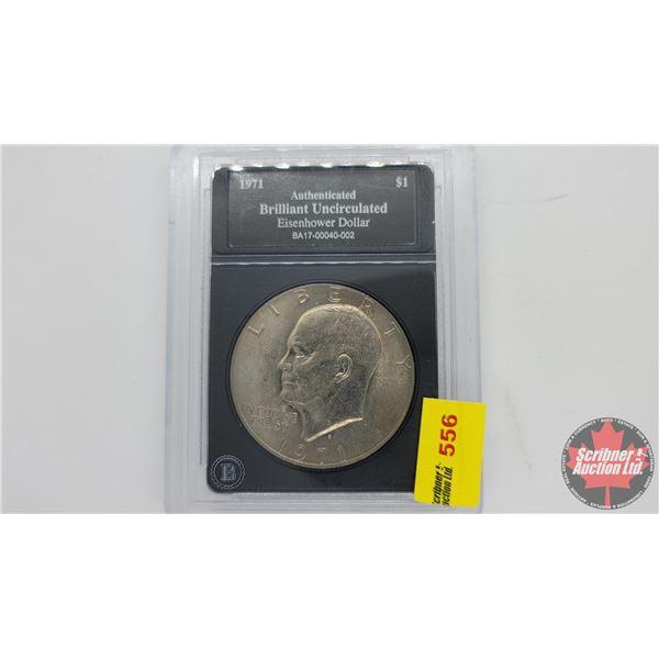 Bradford Exchange : Brilliant Uncirculated Eisenhower Dollar 1971