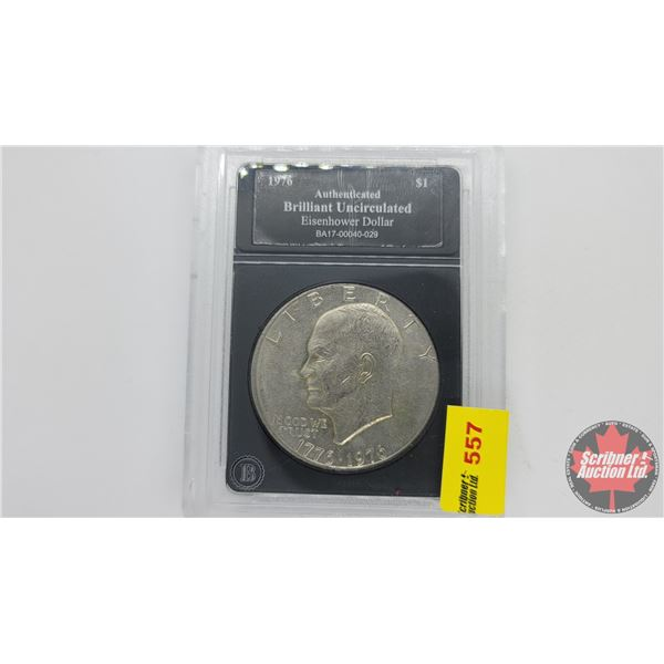 Bradford Exchange : Brilliant Uncirculated Eisenhower Dollar 1976