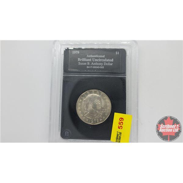Bradford Exchange : Brilliant Uncirculated Susan B. Anthony Dollar 1979