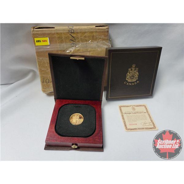 Olympic Gold Proof Coin 22 Karat (.9166 Fine Gold) w/COA #D23408