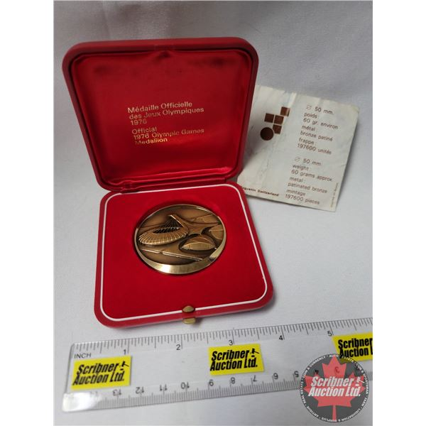 Official 1976 Olympic Games Medallion w/COA #007782