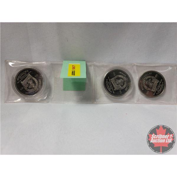 Canadian Forces Base Snowbirds Moose Jaw (3) Dollars 1978