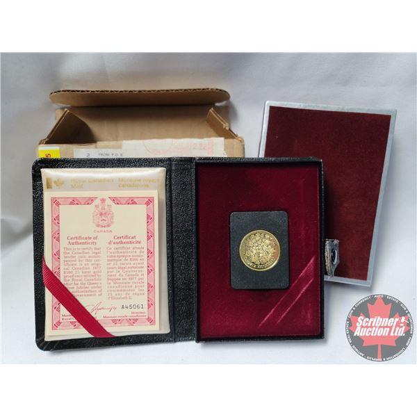 RCM 1977 $100 Gold Coin 22 Karat (91.66%) w/COA #A45061