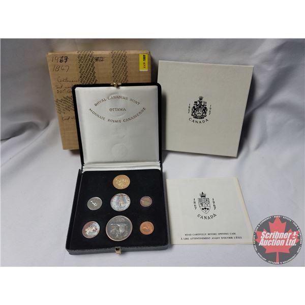 RCM 1867-1967 Canada Centennial Set $20 Gold & Silver Specimen Coin Set