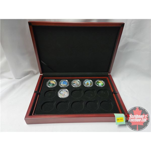 Discover Canada Collector Coins (6) with Coin Collector Case (Coins Included: Ottawa, British Columb