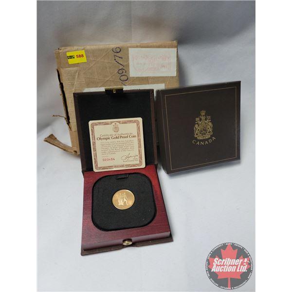 Olympic Gold Proof Coin 22 Karat (.9166 Fine Gold) w/COA #D23454