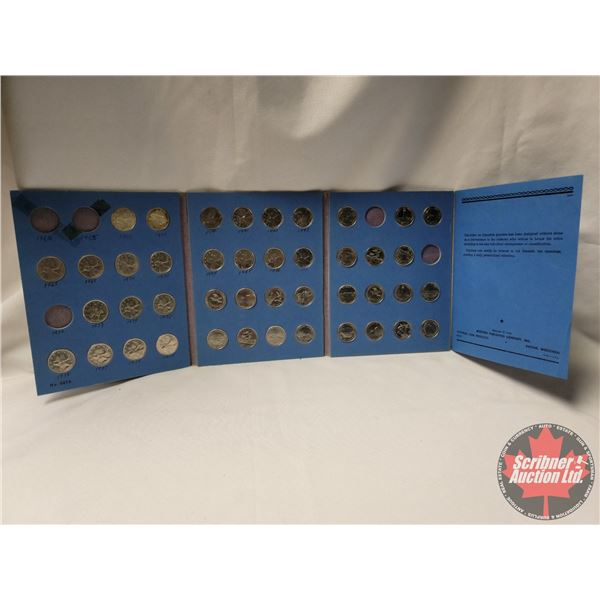 Canadian Quarters in Blue Whitman Folder (43) (Starting 1967 - some missing : SEE PICS!)