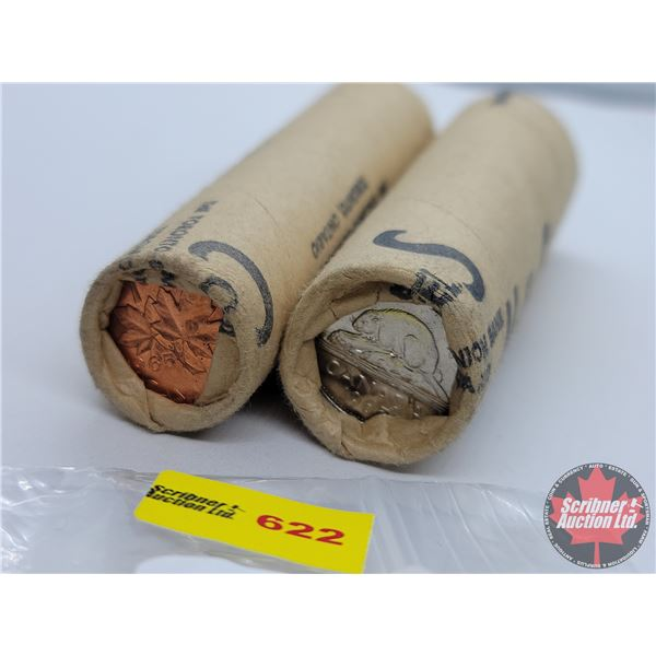 Canada Rolls 1965 (2): Nickels & Pennies (NOTE: Rolls not opened by the Auction Company, so quantity